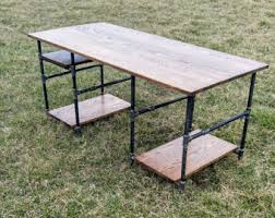Black Pipe Coffee Table - industrial desk etsy