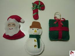 enfeites para arvore de natal de feltro2 brincadeiras