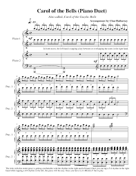 carol of the bells sheet by chas hathaway