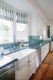 blue kitchen backsplash blue cabinets giggles and laundry