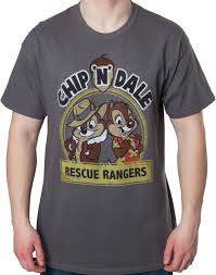 chip n dale rescue rangers chip n dale rescue rangers logo mens t shirt disney afternoon