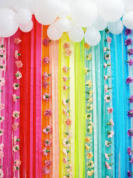 streamer backdrop rainbow care 2nd birthday rainbow party ideas 100 layer