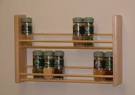 amazon com spice rack two tier natural made in usa wooden