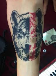 forearm wolf by joseph geometric yeahtattoos com