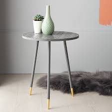 gold tip side table by the best room notonthehighstreet com