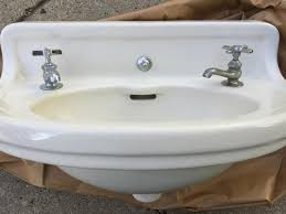amazing vintage porcelain over cast iron wall mount sink within