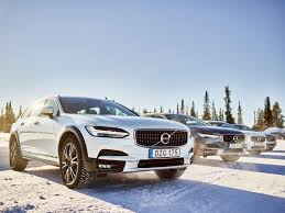 volvo track volvo winter test drive in sweden smf