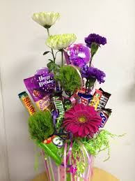 candy bouquet delivery fresh flower candy bouquet fresh flowers mixed candy in clarendon