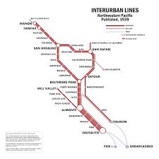 Bart Rail Map by The Bay Area U0027s Age Of Rail Marin U0027s Interurban Vibrant Bay Area