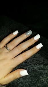 matte white and silver nails cocainewhite whitenails nailart
