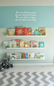 Nursery Wall Bookshelf Dollhouse Bookcase With White Wall And Green Roof For Kids Room