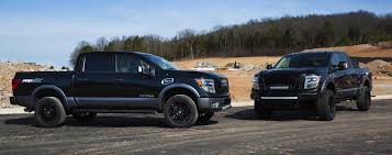 nissan titan long travel nissan showcases titan pro 4x and titan xd with off road options