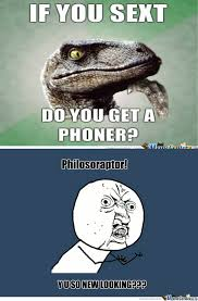 Sexting Memes - philosoraptor sexting by codeep123 meme center