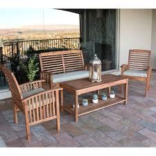 Eucalyptus Outdoor Table by Patio Furniture Amazon Com Outdoor Interiors Eucalyptus Piece