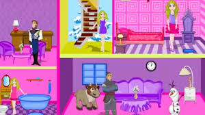 Room Decor Games For Girls - frozen barbie doll house decor play the game online