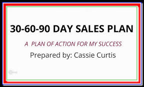 30 60 90 day action plan template 30 60 90 day sales plan