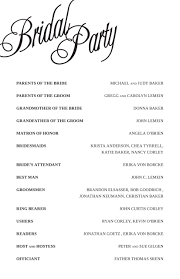 wedding day program awesome program for wedding reception contemporary styles