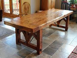 Farmhouse Dining Room Table Plans by Nice Furniture Diy Farmhouse Dining Table With Oak Wooden Top And