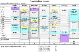 Study Schedule Template Excel Study Timetable Maker Thebridgesummit Co