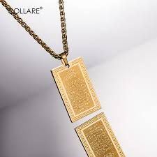 necklace pendants wholesale images Collare allah necklaces pendants gold color stainless steel jpg