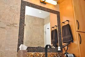 Tile Around Bathtub Awesome Mosaic Tile Around Bathroom Mirror On Home Interior
