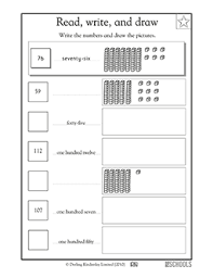1st grade math worksheets big numbers in 3 forms greatschools