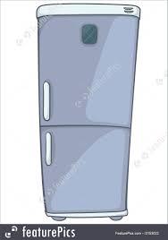 kitchen cartoon home kitchen refrigerator stock illustration