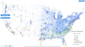 Interactive Map Of Usa by Genea Musings The Interactive Racial Dot Map Of The United States