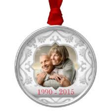silver wedding anniversary ornaments keepsake ornaments zazzle