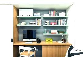 floating shelf desk computer home office shelves contemporary with small used as a floating shelf desk