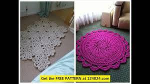 Fabric Rug Crochet Area Rug Crochet Rag Rug Tutorial Crochet Doily Rug