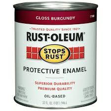 shop rust oleum stops rust burgundy gloss gloss oil based enamel