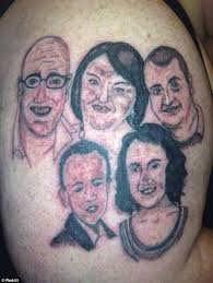 collection of 25 bad portrait on arm