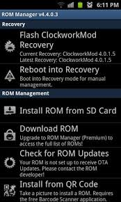 rom manager apk how to install flash clockworkmod recovery on your android