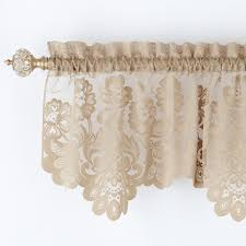 Lace Valance Curtains Jcp Home Shari Lace Rod Pocket Tailored Valance