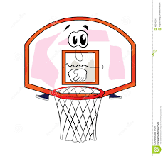 sad basketball hoop cartoon stock illustration image 49244165