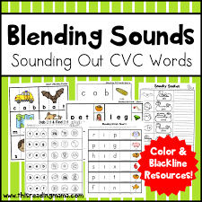 blend sounds with cvc dot pages this reading mama