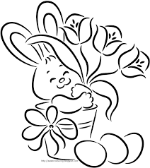 easter colouring easter bunny colouring pages