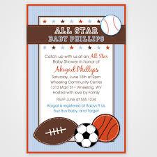 sports themed baby shower invitations cloveranddot com