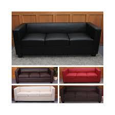schlafsofa yatego 3er sofa couch loungesofa lille leder kunstleder mikrofaser