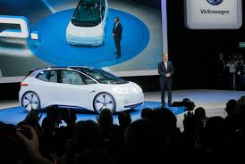 volkswagen electric car automakers show off electric cars at paris show wtvcfox