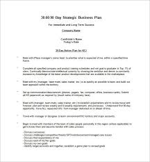 30 60 90 day sales plan template free sample world of letter