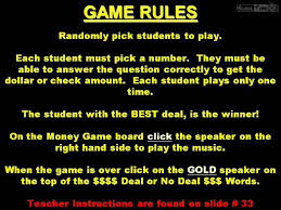 deal or no deal powerpoint game template bigbonesbash com