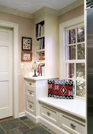 filing cabinet bench spaces traditional with alcove bin pulls