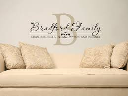 wall decal design beautiful last name wall decals for family room