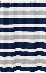 Navy And White Striped Shower Curtain Circo Cool Rugby Stripes Shower Curtain Striped Shower Curtains