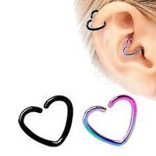 heart cartilage earring 316l surgical steel heart shaped cartilage earring cartilage