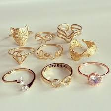 gold cute rings images Moda accesorios anillos accessories pinterest teen fashion jpg