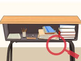 Open Front Student Desk by How To Organize Your School Desk 9 Steps With Pictures