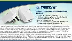 tpl 406e2k trendnet tpl 406e2k 500mbps compact powerline av adapter kit rj
